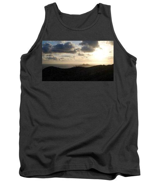 Sunset Dragon Island Tank Top