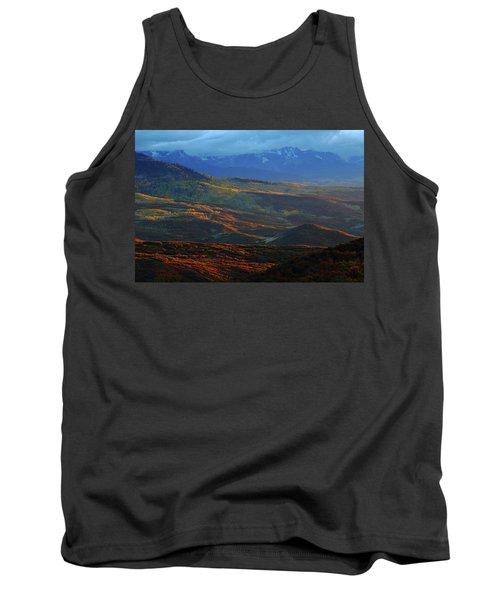 Sunset During Autumn Below The San Juan Mountains In Colorado Tank Top by Jetson Nguyen
