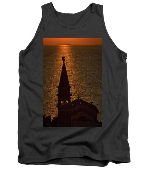 Tank Top featuring the photograph Sunset From The Walls #2 - Piran Slovenia by Stuart Litoff