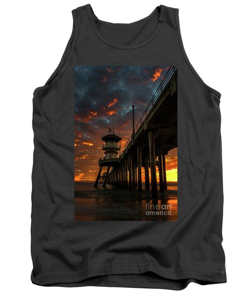 Sunset Huntington Beach Pier Tank Top