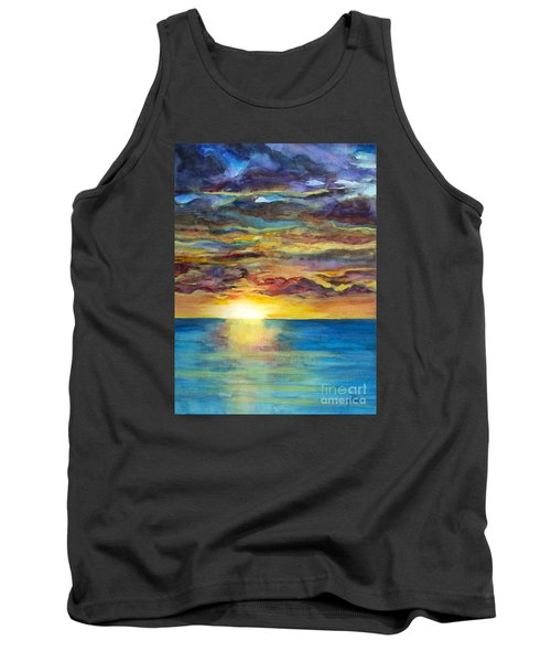 Tank Top featuring the painting Sunset II by Suzette Kallen