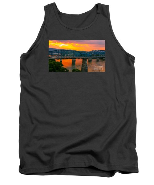 Tank Top featuring the photograph Sunset In Chattanooga by Geraldine DeBoer