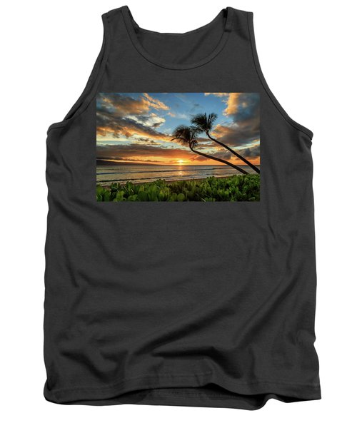 Tank Top featuring the photograph Sunset In Kaanapali by James Eddy