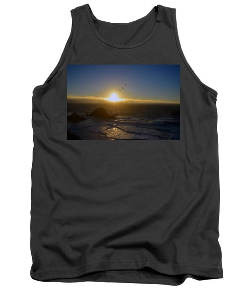 Sunset In San Francisco Tank Top
