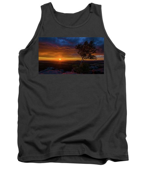 Sunset In Saxonian Switzerland Tank Top by Andreas Levi