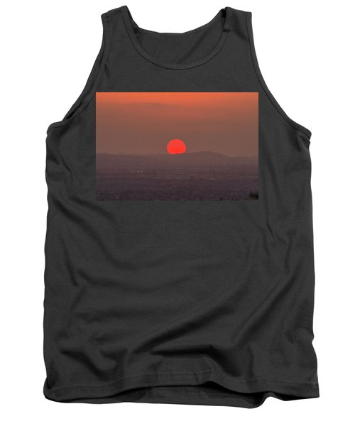 Sunset In Smog Tank Top by Hyuntae Kim