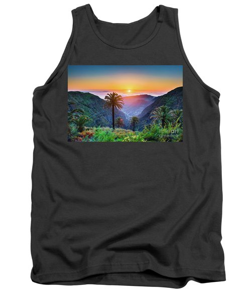 Sunset In The Canary Islands Tank Top by JR Photography
