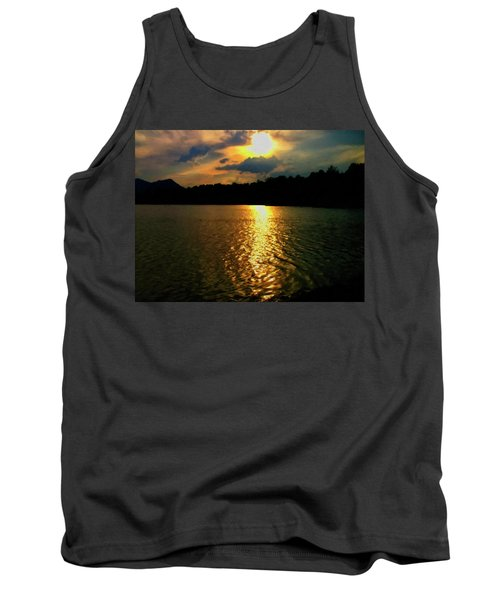 Tank Top featuring the digital art Sunset In The Smoky Mountains 1 by Chris Flees