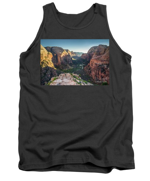 Sunset In Zion National Park Tank Top by JR Photography