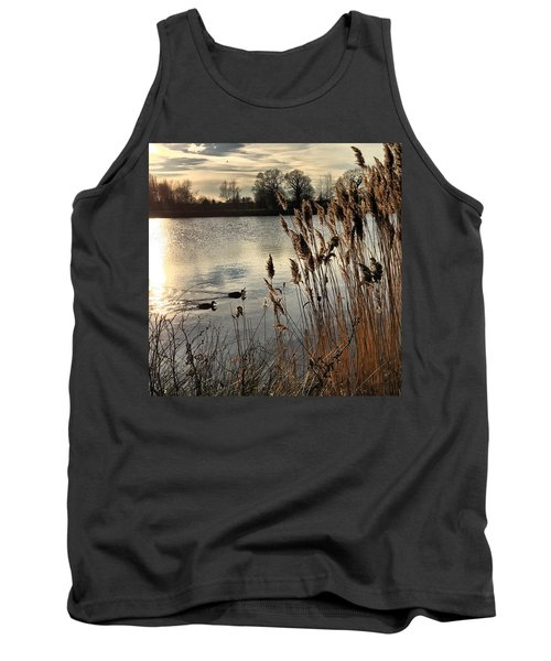 Sunset Lake  Tank Top by Kathy Spall
