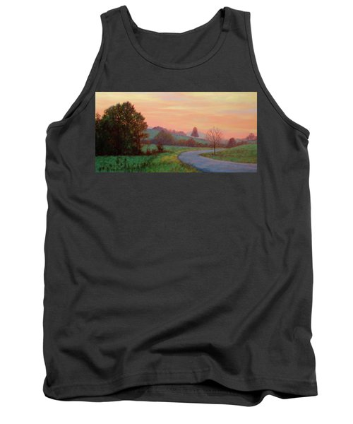 Sunset Meditation- In The Blue Ridge Mountains Tank Top