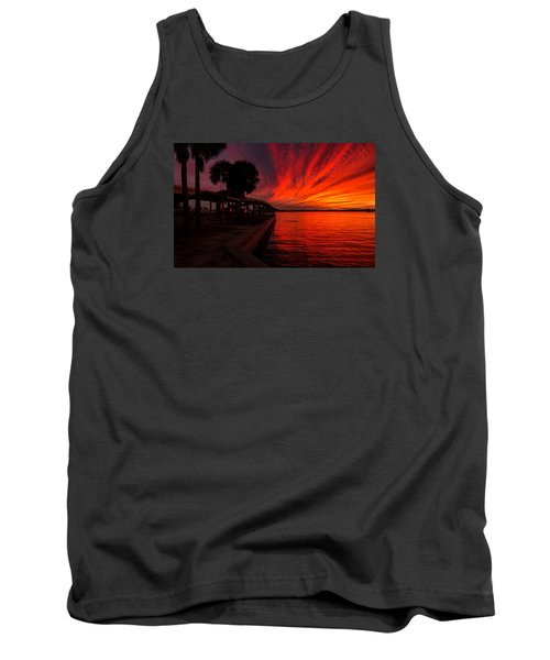 Sunset On Fire Tank Top by Dorothy Cunningham
