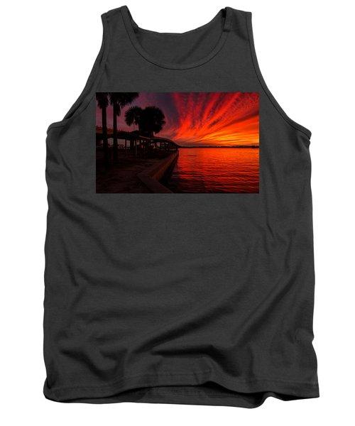 Sunset On Fire Tank Top