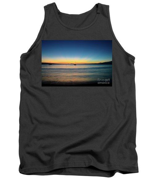 Tank Top featuring the photograph Sunset On Ka'anapali Beach by Kelly Wade