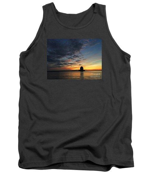 Sunset On Lorain Lighthouse Tank Top