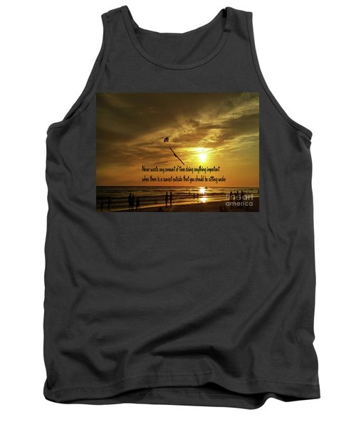 Tank Top featuring the photograph Sunset On The Beach by Gary Wonning
