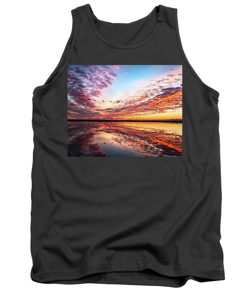 Sunset On The Pacific Flyway Tank Top