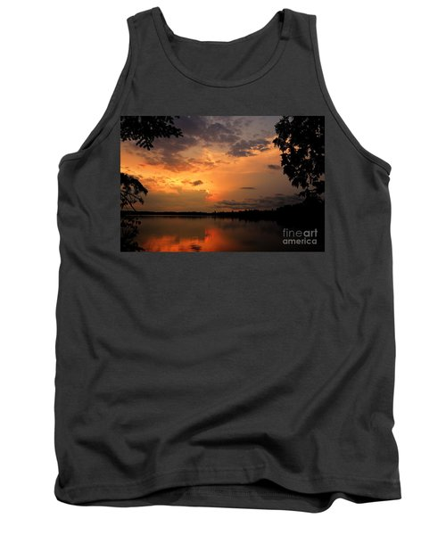 Tank Top featuring the photograph Sunset On Thomas Lake by Larry Ricker