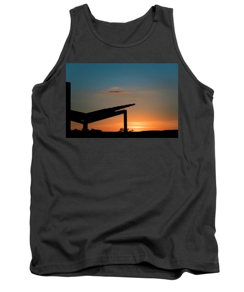 Sunset Over Austin City Limits Festival Week One 2017 Tank Top