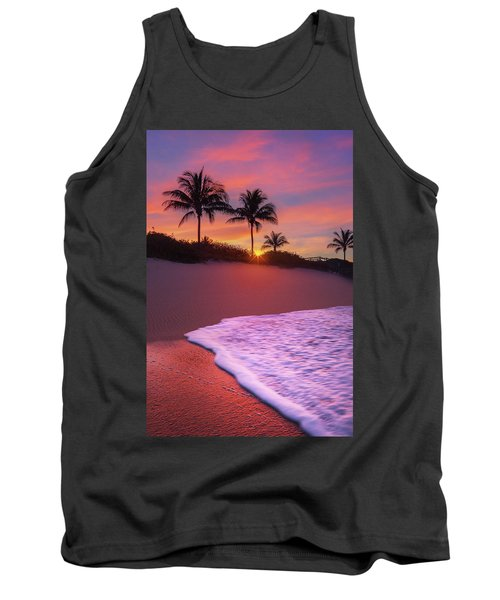 Tank Top featuring the photograph Sunset Over Coral Cove Park In Jupiter, Florida by Justin Kelefas