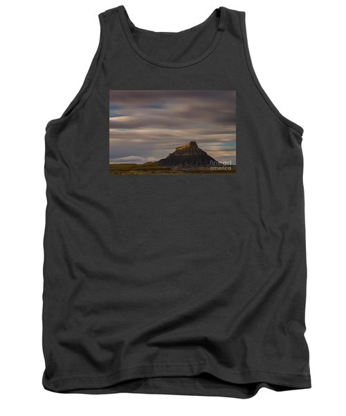 Tank Top featuring the photograph Sunset Over Factory Butte by Keith Kapple