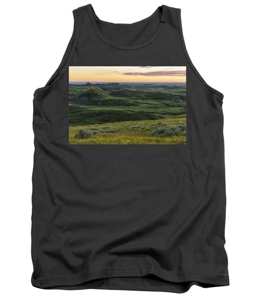 Sunset Over Killdeer Badlands Tank Top by Robert Postma