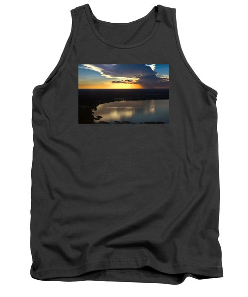 Sunset Over Lake Tank Top by Carolyn Marshall