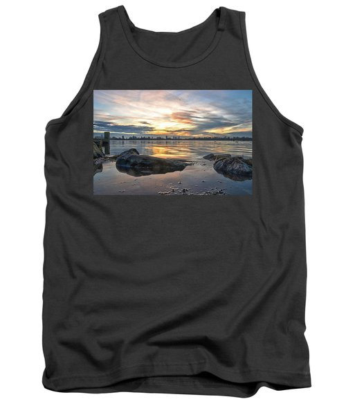 Sunset Over Lake Kralingen  Tank Top