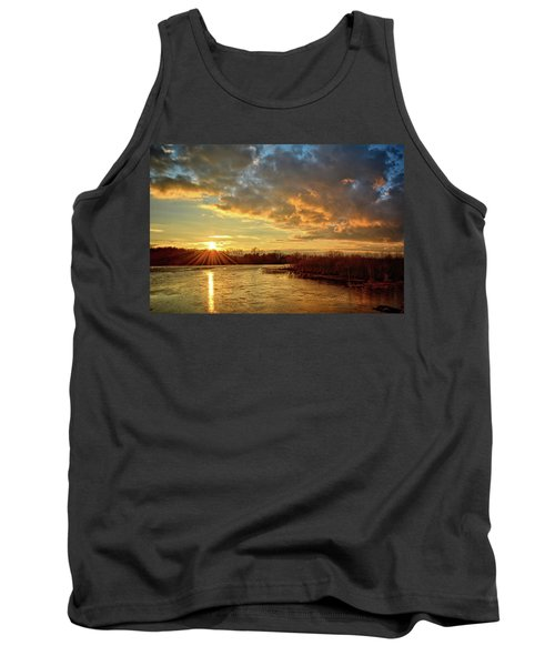 Sunset Over Marsh Tank Top by Bonfire Photography