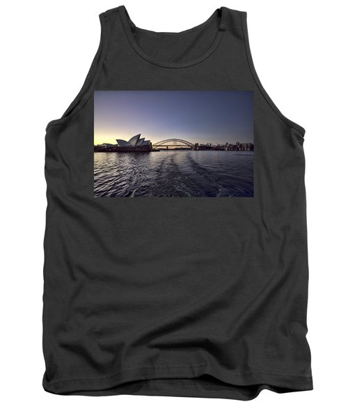Sunset Over Sydney Harbor Bridge And Sydney Opera House Tank Top