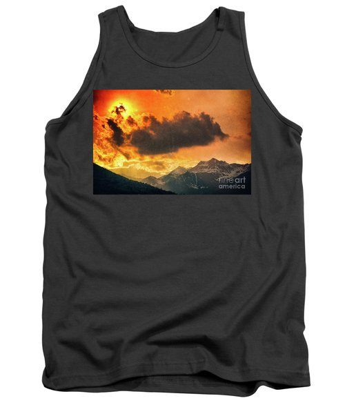 Tank Top featuring the photograph Sunset Over The Alps by Silvia Ganora