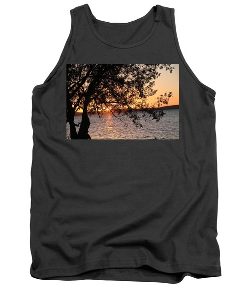 Sunset Over The Caribbean In Cienfuegos, Cuba Tank Top