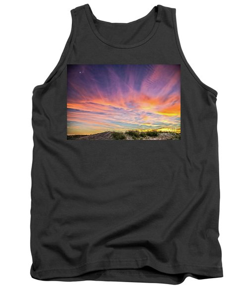 Tank Top featuring the photograph Sunset Over The Dunes by Vivian Krug Cotton