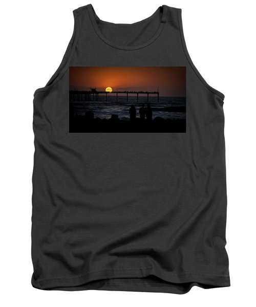 Sunset Over The Pier Tank Top