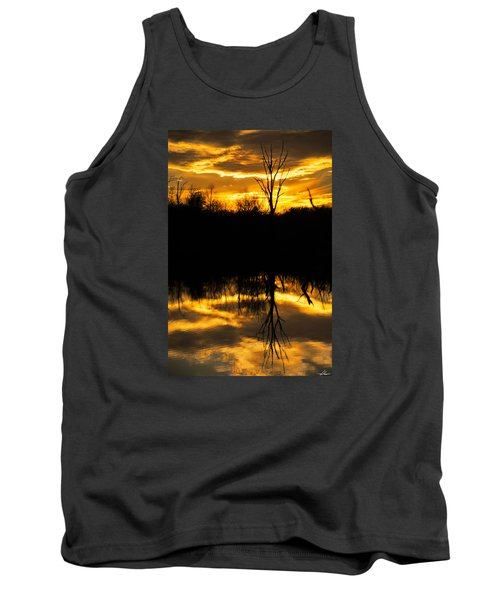 Sunset Over The Sabine River Tank Top