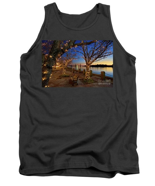 Sunset Over The Wilmington Waterfront In North Carolina, Usa Tank Top