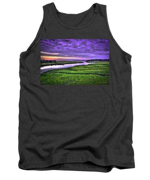 Sunset Over Turners Creek Savannah Tybee Island Ga Tank Top