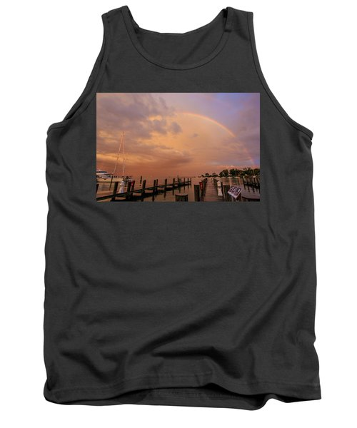 Tank Top featuring the photograph Sunset Rainbow by Jennifer Casey