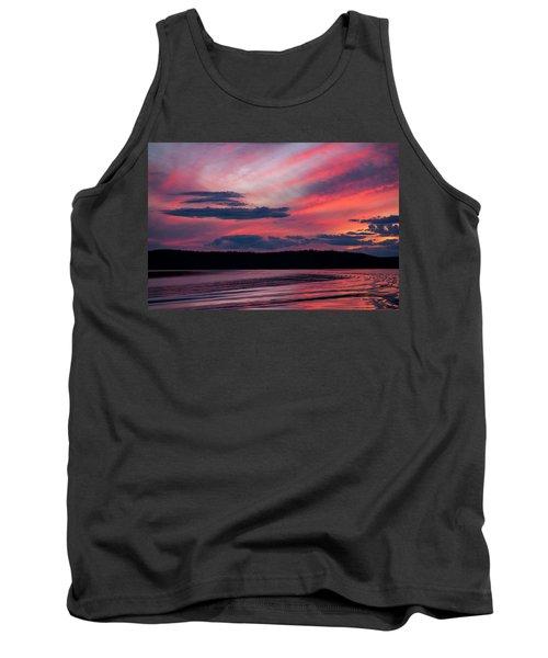 Sunset Red Lake Tank Top