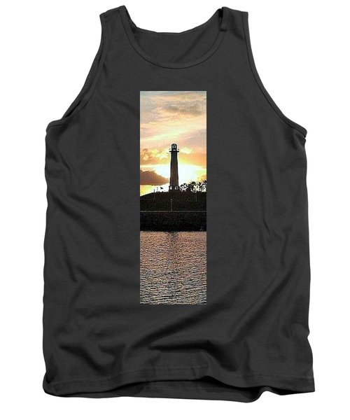 Tank Top featuring the photograph Sunset Reflection by John Glass