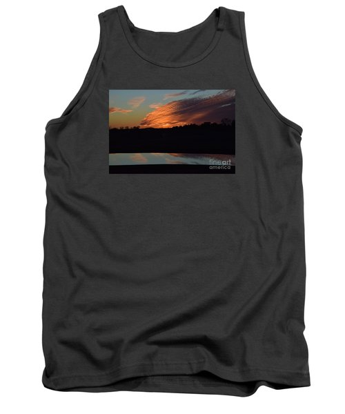 Tank Top featuring the photograph Sunset Reflections by Mark McReynolds