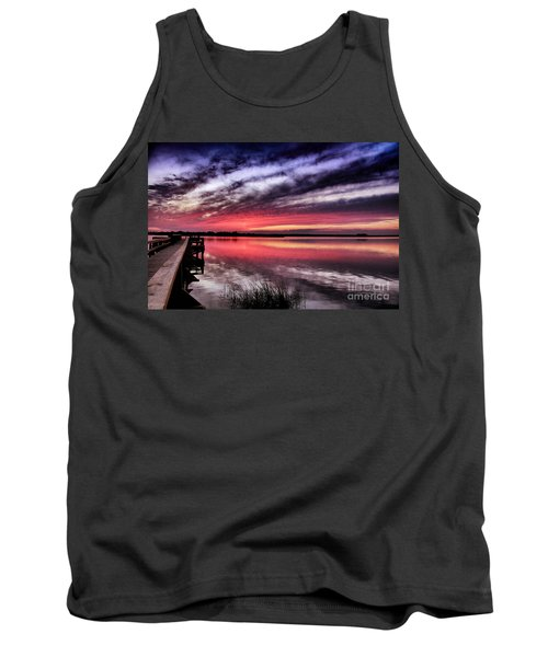 Tank Top featuring the photograph Sunset Reflections by Phil Mancuso