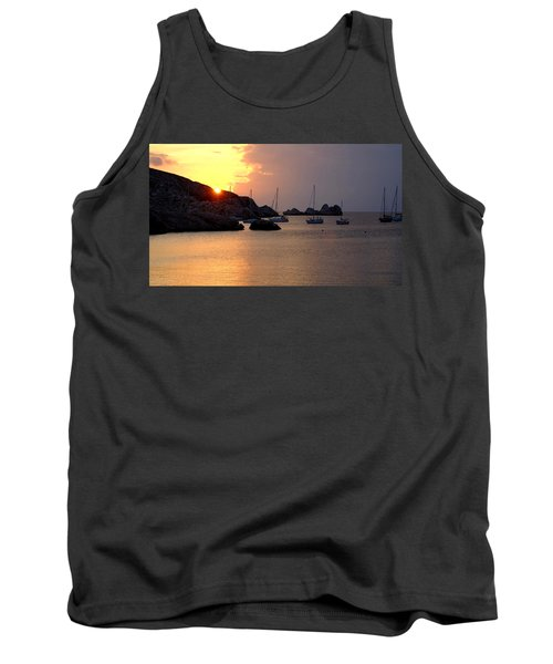 Sunset Sailing Boats Tank Top