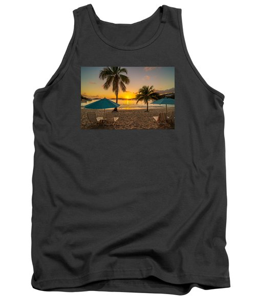 Sunset Secret Harbor Tank Top