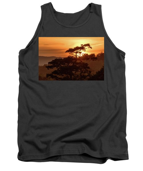 Sunset Silhouette Tank Top by Keith Boone
