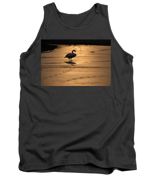 Tank Top featuring the photograph Sunset Swan by Richard Bryce and Family
