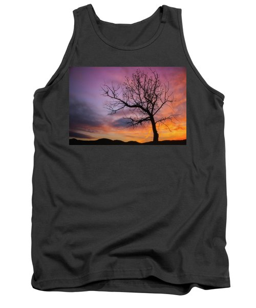 Tank Top featuring the photograph Sunset Tree by Darren White