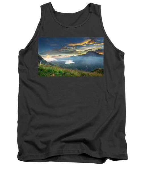 Sunset View From Mt Rinjani Crater Tank Top