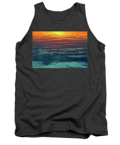 Sunset Water  Tank Top by Lyle Crump
