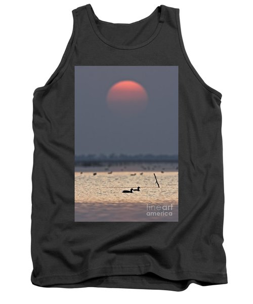 Sunset With Coots Tank Top